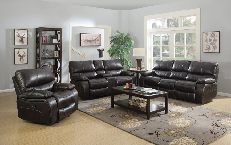 Willemse Sofa Set - Two-tone Dark Brown