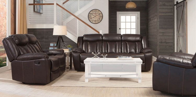Bevington Motion Sofa Set - Chocolate