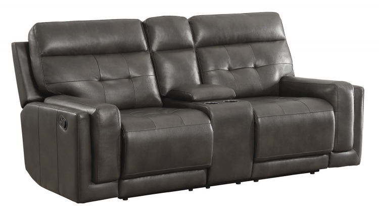 Trenton Motion Motion Loveseat - Dark Grey