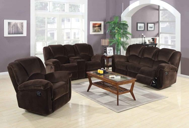 Ajay Motion Living Room Set - Chocolate - Coaster