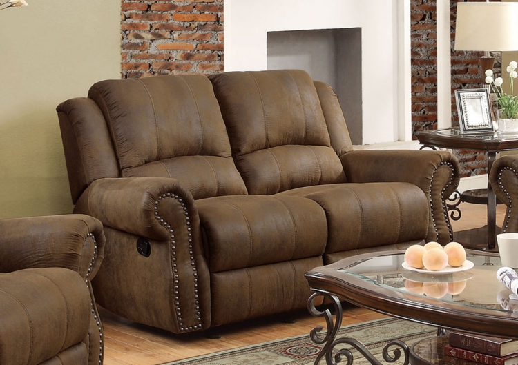 Sir Rawlinson Motion Gliding Love Seat - Brown