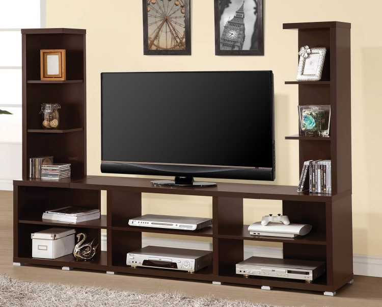 700034 Entertainment Wall Unit - Cappuccino