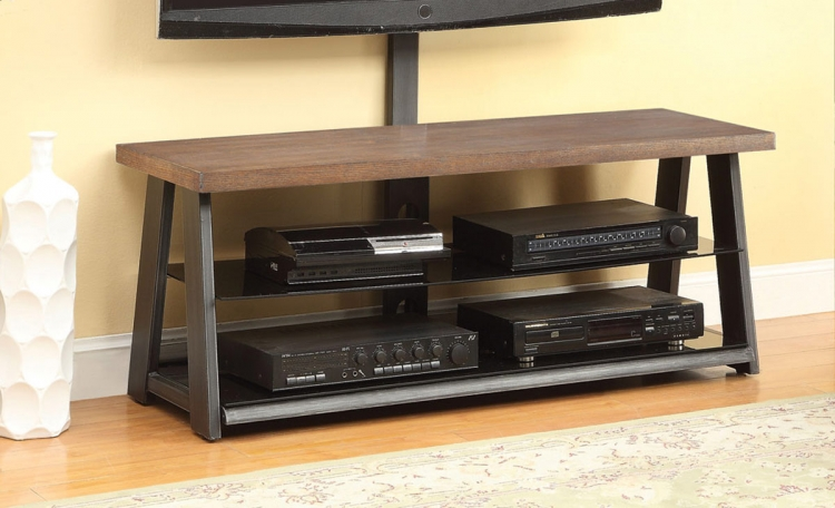 700217 TV Stand - Brown/Black Pewter
