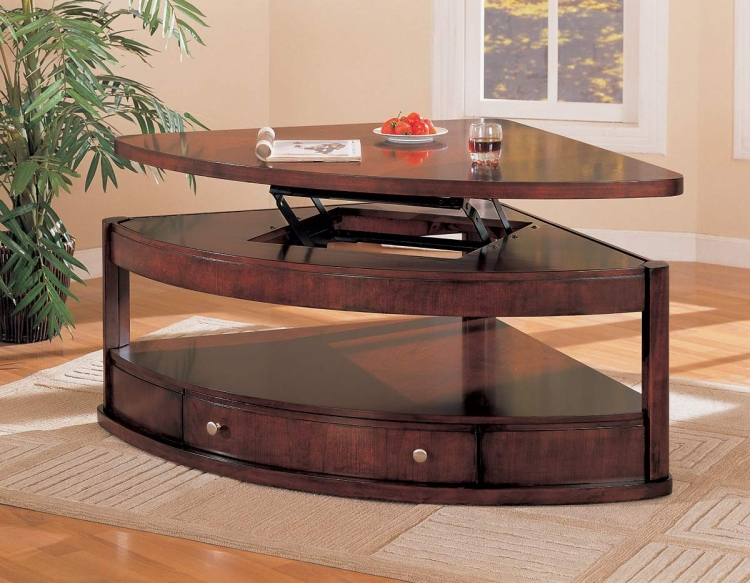 Evans Pie Shape Lift Top Table