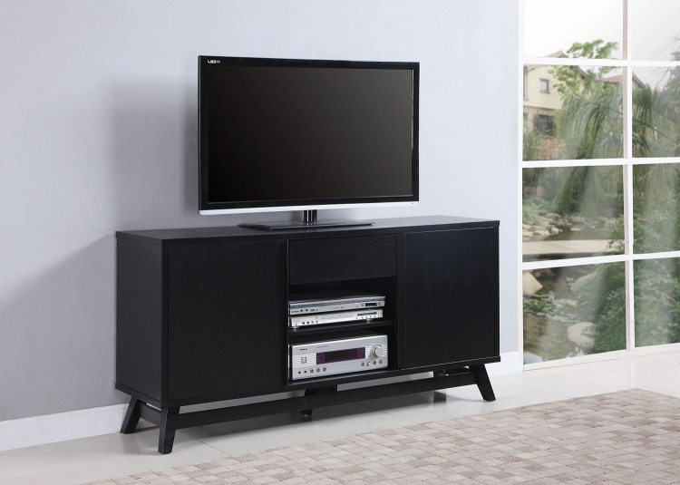 700442 TV Console - Glossy Black