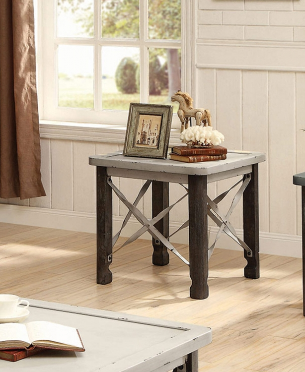 700494 End Table - Antique White