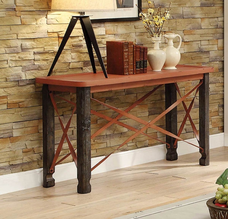 700496 Sofa Table - Rustic Orange