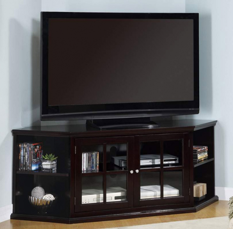 Fullerton Transitional Corner Media Unit with Glass Doors - Coaster
