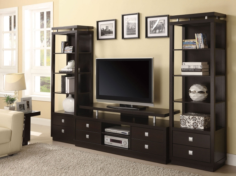 700696 Entertainment Wall Unit - Cappuccino