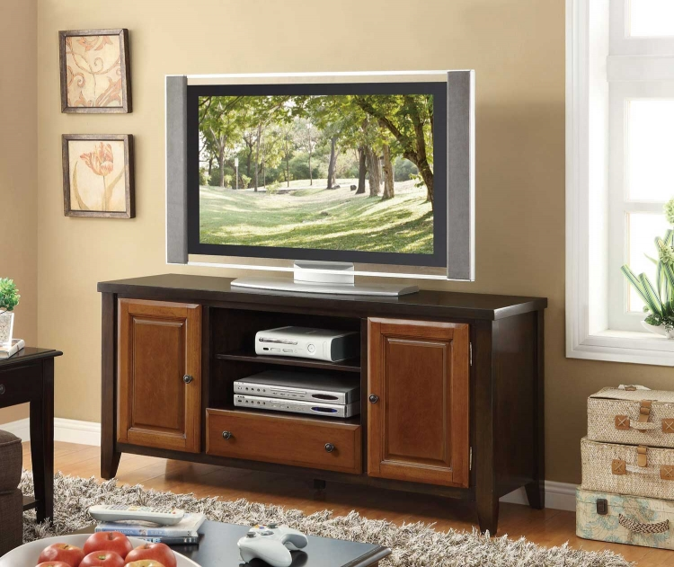 700731 TV Console - Espresso/Light Cherry