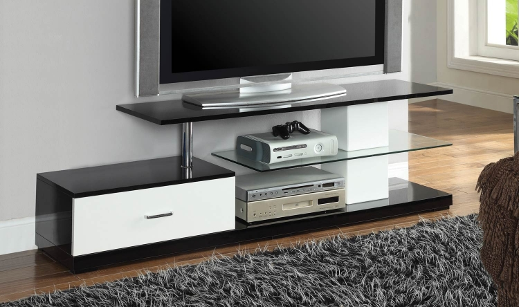 700733 TV Console - Black/White
