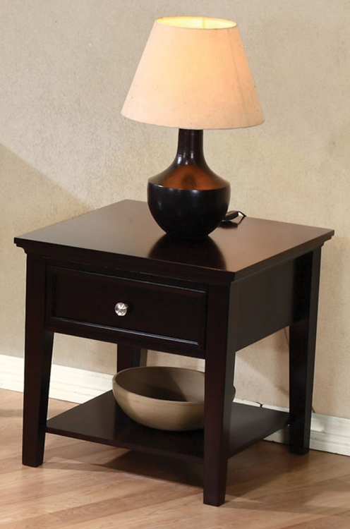 700737 End Table - Cappuccino