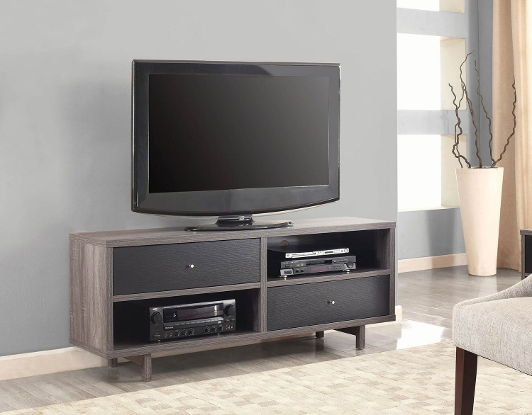 700795 TV Console - Distressed Grey/Black