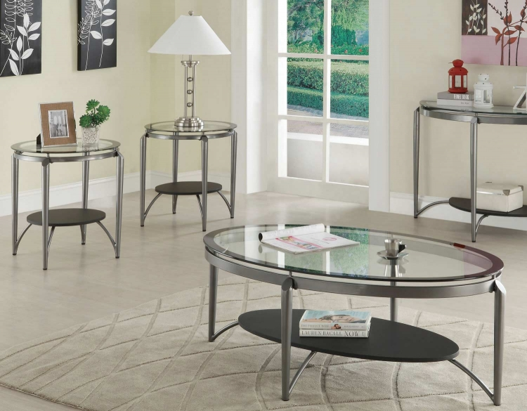 700796 3 Pack Coffee Table Set - Dark Grey