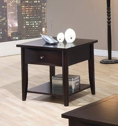 Whitehall End Table - Cappuccino - Walnut