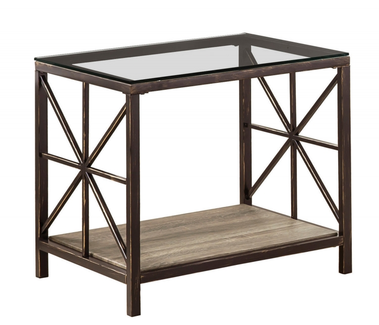Avondale End Table - Charcoal