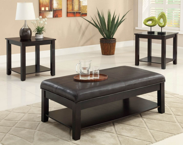 701601 3 Pack Coffee Table Set - Cappuccino