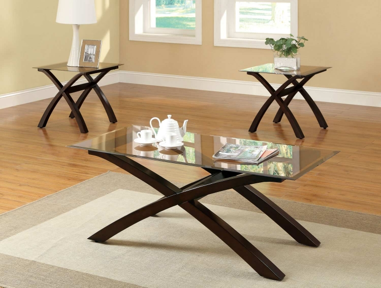 701610 3 Pack Coffee Table Set - Cappuccino