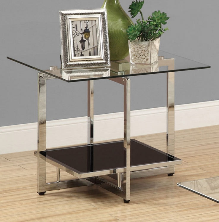 701637 End Table - Chrome/Black