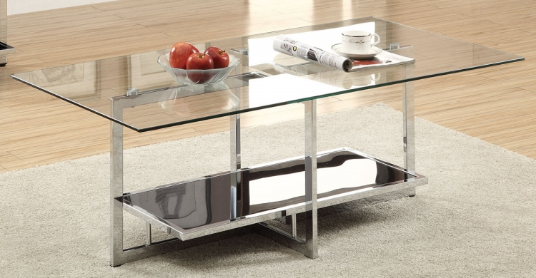 701638 Coffee Table - Chrome/Black