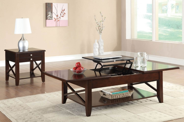 701858 Coffee Table Set - Cherry