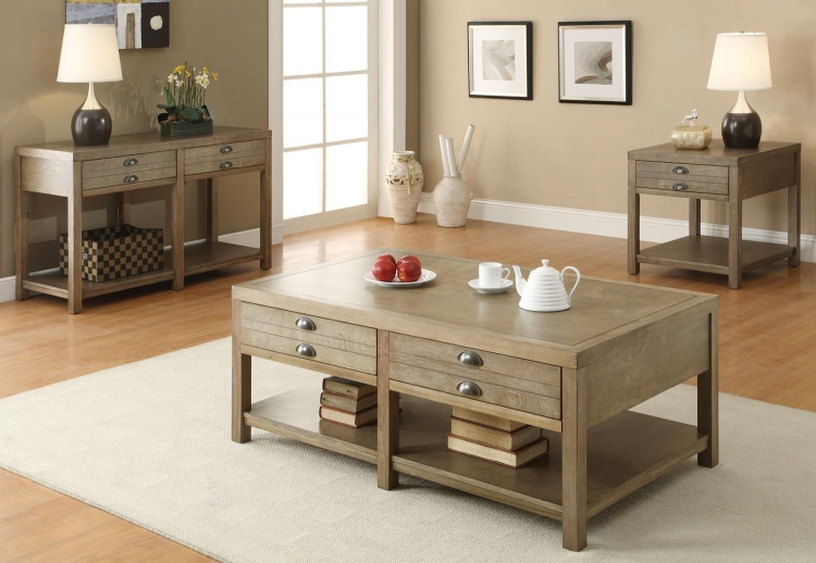 701958 Coffee Table Set - Light Oak