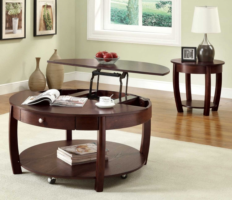 701977 Coffee Table Set - Cappuccino