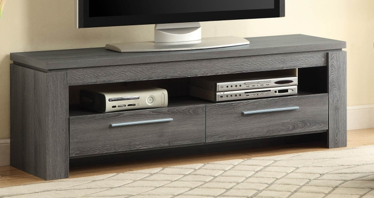 701979 TV Console - Weathered Grey
