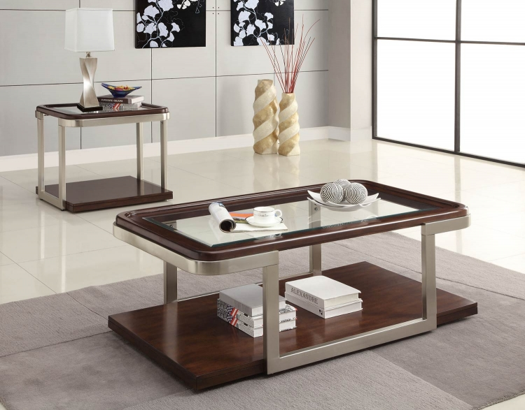 701998 Coffee Table Set - Cappuccino