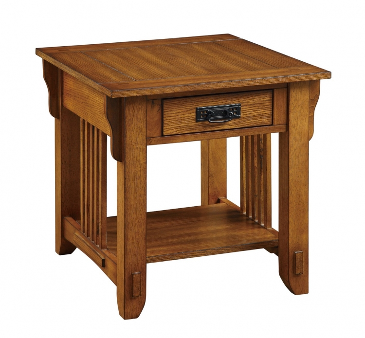 702007 End Table - Warm Brown