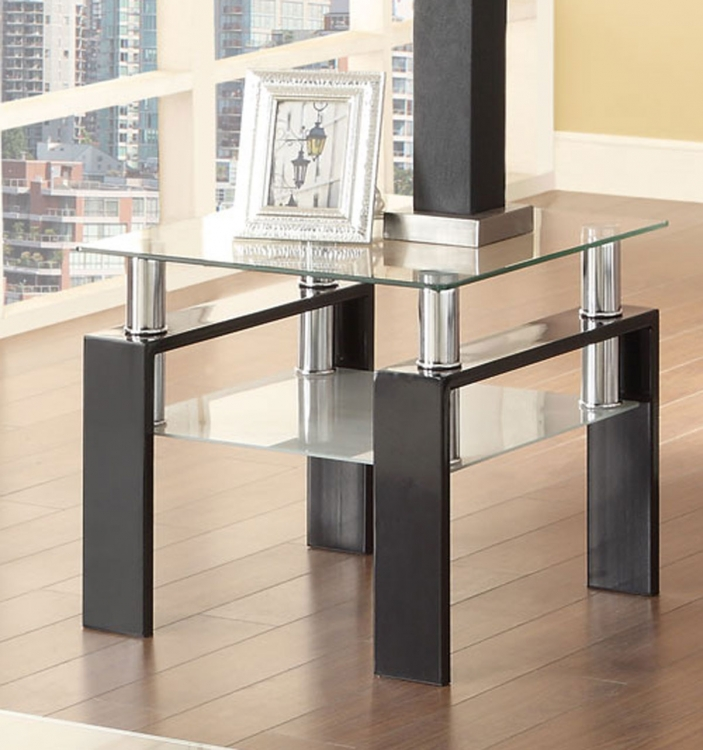702287 End Table - Black