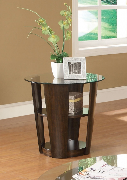702347 End Table - Dark Cherry