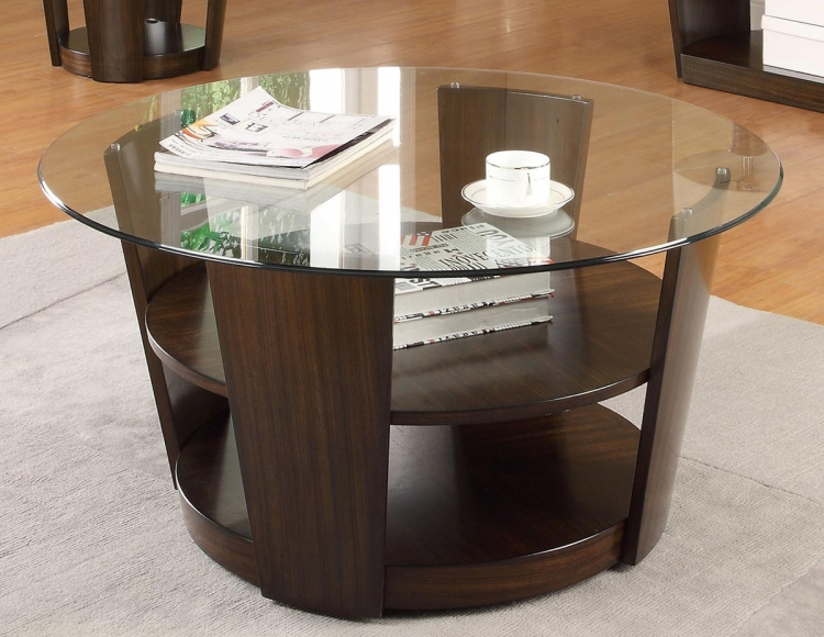702348 Coffee Table - Dark Cherry