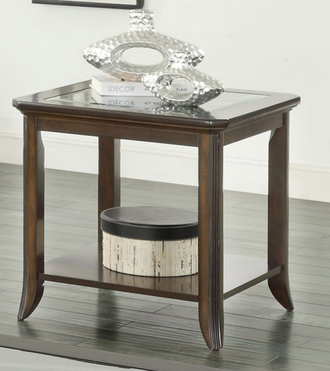 702357 End Table - Brown Cherry