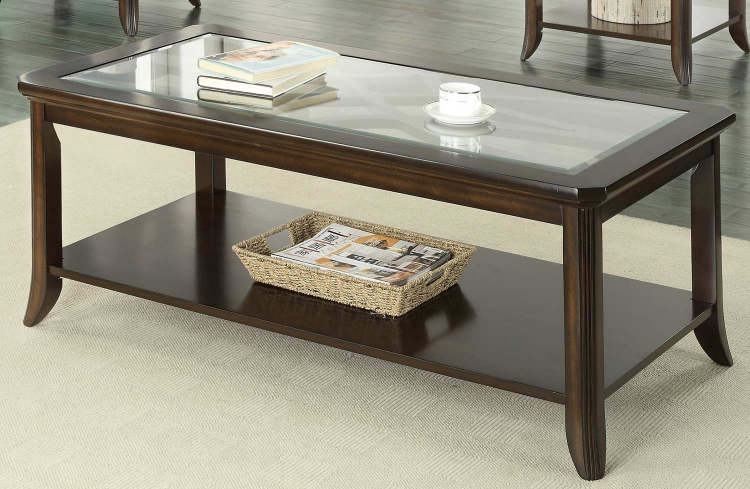 702358 Coffee Table - Brown Cherry
