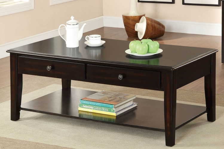 702398 Coffee Table - Merlot