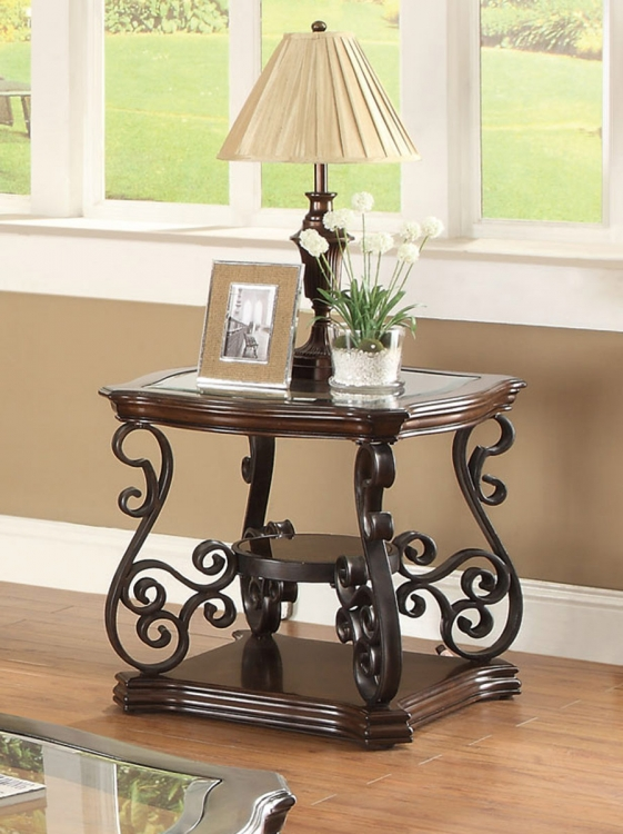 702447 End Table - Mahogany