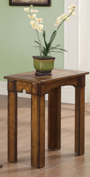 702456 Chairside Side Table - Burnished Oak