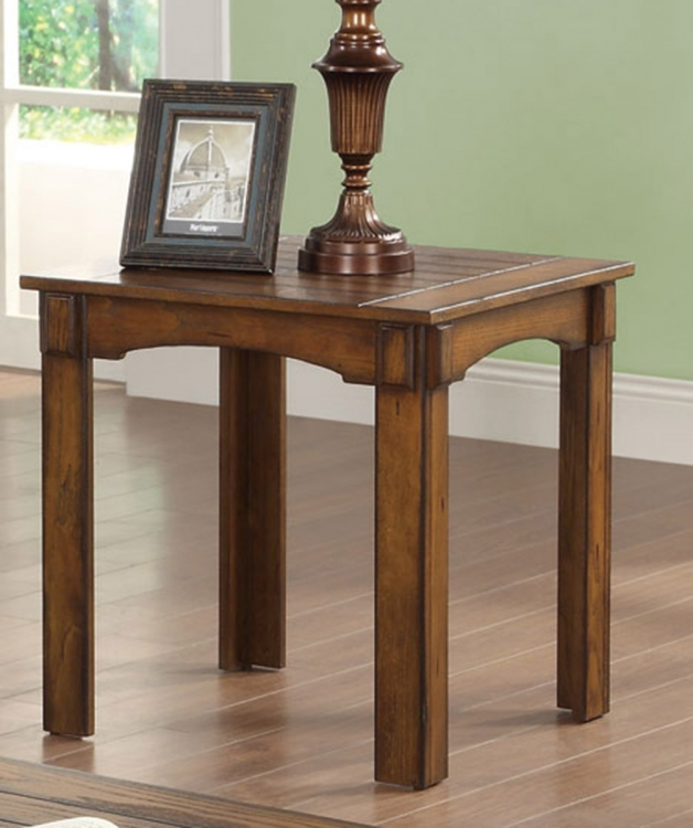702457 End Table - Burnished Oak