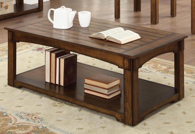 702458 Coffee Table - Burnished Oak