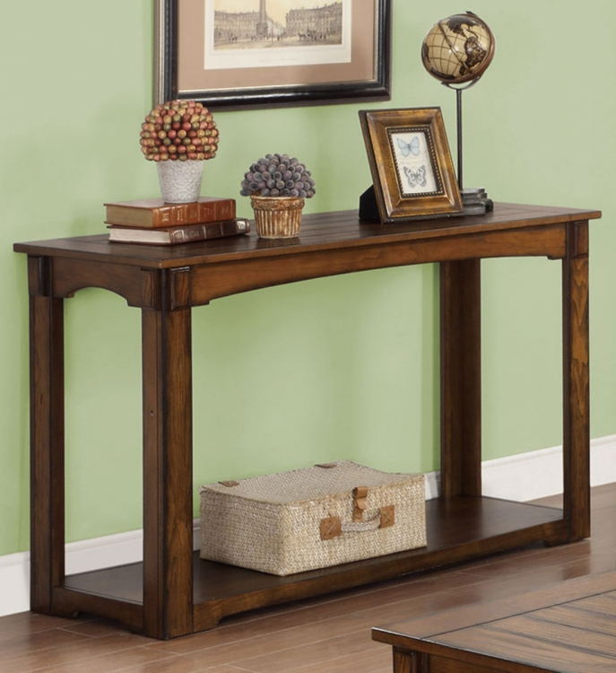 702459 Sofa Table - Burnished Oak