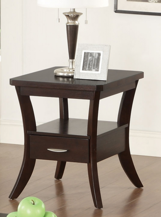 702507 End Table - Espresso
