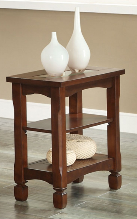 702526 Chairside Side Table - Walnut