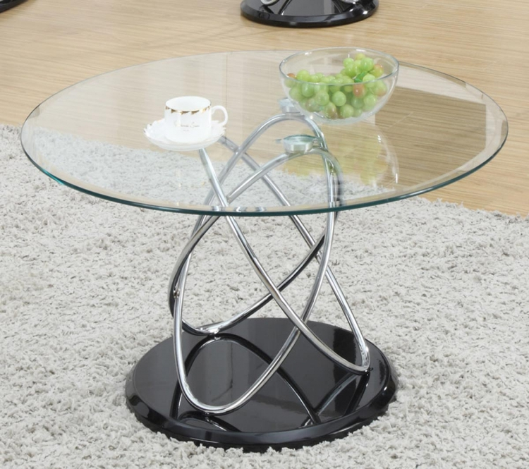 702558 Coffee Table - Black/Chrome