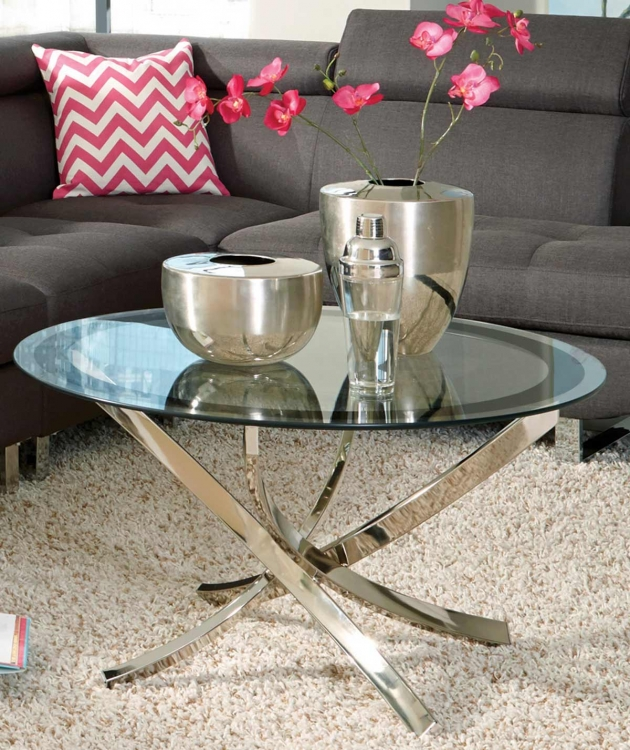 702588 Coffee Table - Black/Chrome