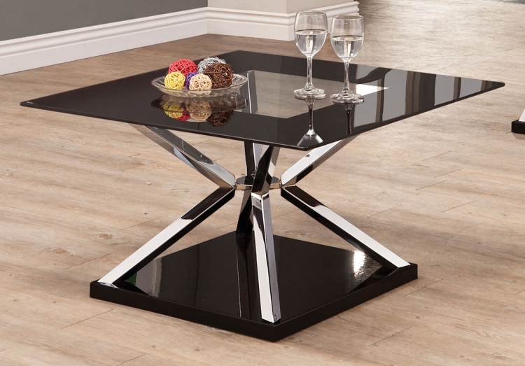 702638 Coffee Table - Black/Chrome