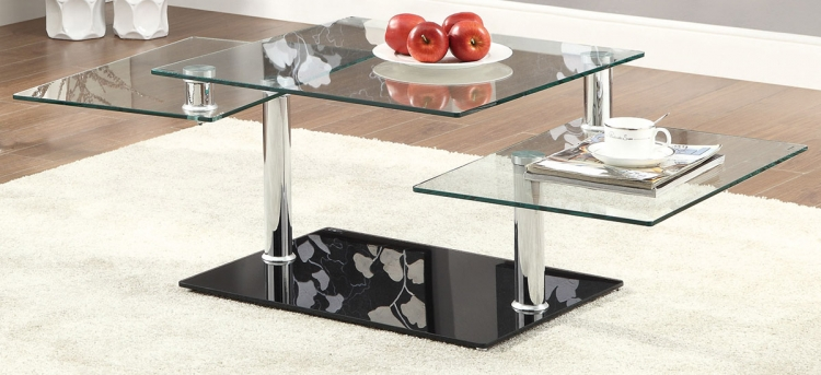 702698 Coffee Table - Chrome/Black