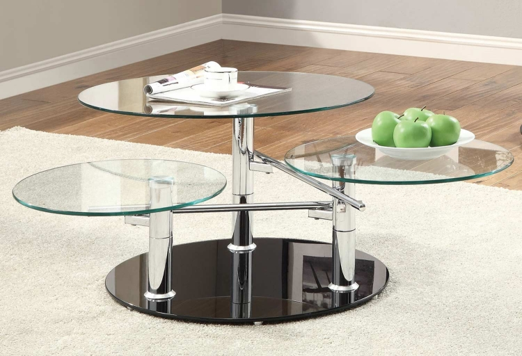 702708 Coffee Table - Black/Chrome