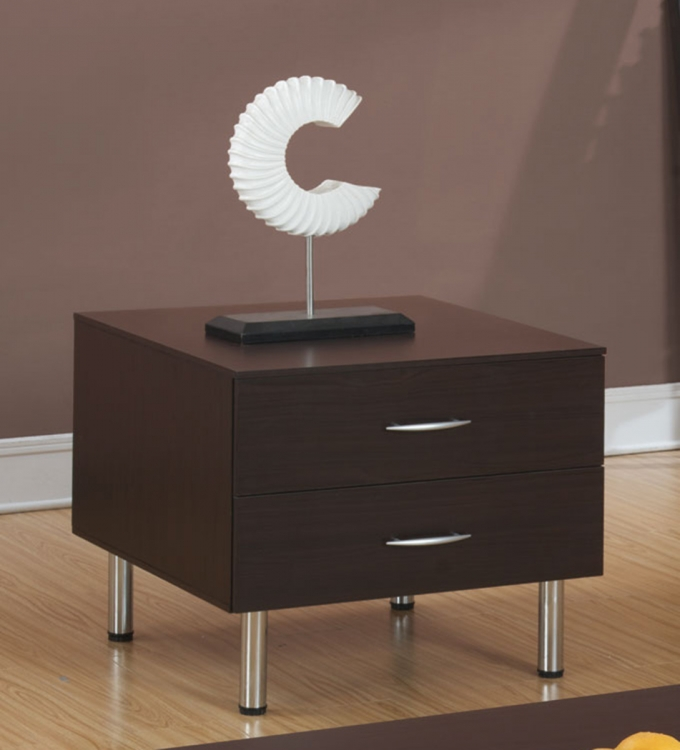 702727 End Table - Cappuccino