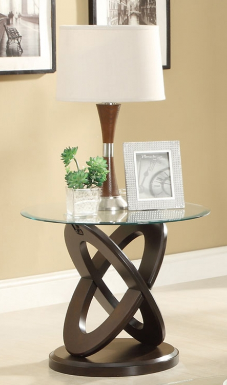 702787 End Table - Espresso